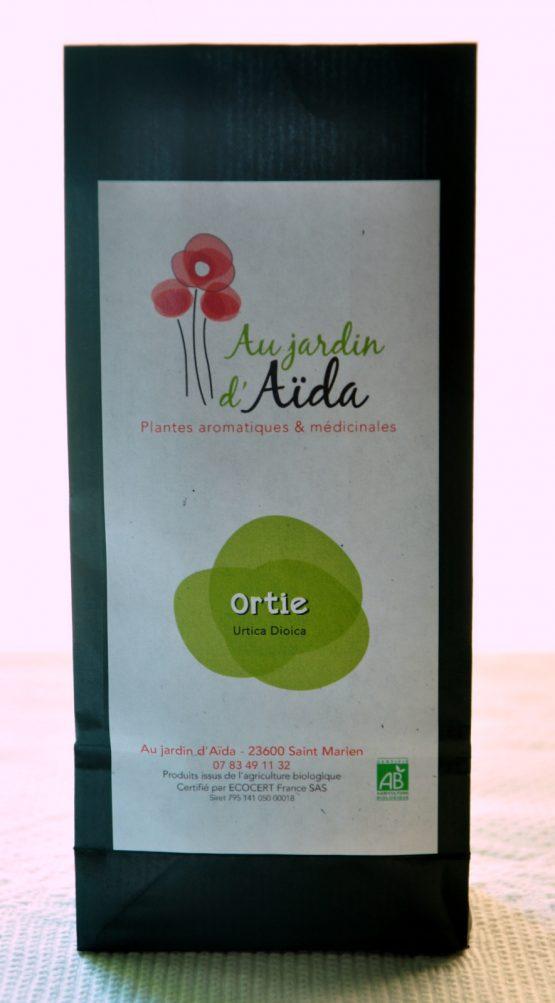 Tisane ortie, Au jardin d'Aïda, plantes aromatiques et médicinales, agriculture biologique