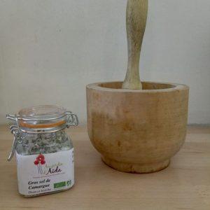 Gros sel de camargue aux herbes - 100g