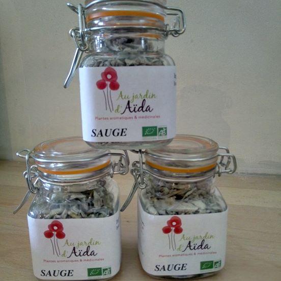 Sauge officinale, Au jardin d'Aïda, plantes aromatiques et médicinales, agriculture biologique