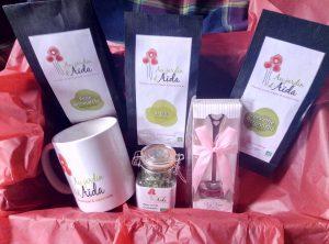 Coffret dégustation fête des mères, au jardin d'Aïda, plantes aromatiques et médicinales, agriculture biologique