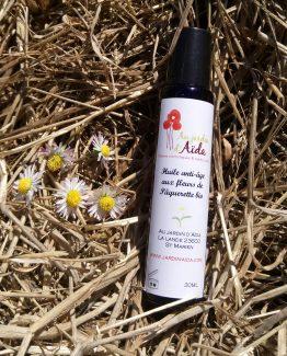 huile paquerettes, anti age, au jardin d'aida, plantes aromatiques et médicinales limousin creuse